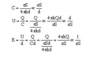 电容公式的推导